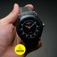 Jam Tangan Pria / Cowok Vinergy Original Rubber / Karet Black