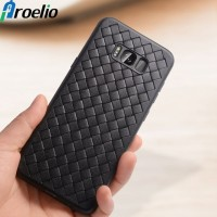 WOVEN case Samsung S8 Edge - S8 Plus soft cover casing hp tpu leather