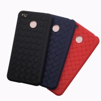 WOVEN case Xiaomi Redmi 4X Pro Prime soft cover casing hp tpu leather