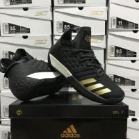 Sepatu Basket Adidas Harden 2 Black White Gold Hitam Putih Emas