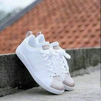 Sepatu Adidas neo advanteg original cewek putih gold murah casual vans