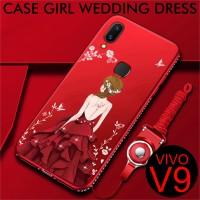 Wedding Girl Dress Slim Matte Case Vivo V9 / Y85 Softcase Back Vivo V9