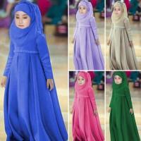 Muslim Maxi Gaun Bayi Perempuan Pakaian Untuk Kostum Anak Busur Bando