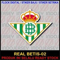 Patch Flock Setrika - Logo Spanyol LFP - REAL BETIS [02]