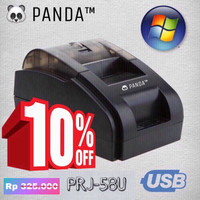 PANDA PRINTER KASIR THERMAL 58 MM FREE 3 ROLL PAPER