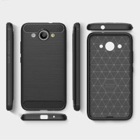 Softcase TPU Carbon Brush Texture Cover Case Casing HP Huawei Y3 2017