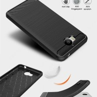 Softcase TPU Carbon Brush Texture Cover Case Casing HP Huawei Y5 2017