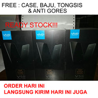 HP VIVO V5S BLACK RAM 4 / 64 GB (FREE CASE, BAJU, TONGSIS, ANTI GORES)