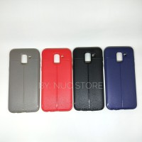 Samsung Galaxy J6 Autofocus Leather Softcase Case Casing Bumper Soft