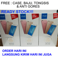 HP VIVO V5S GOLD RAM 4 / 64 GB (FREE CASE, BAJU, TONGSIS, ANTI GORES)