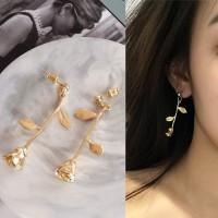 Anting Korea Rose Flower Earrings J4U734
