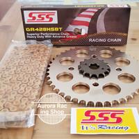 Gear Set SSS Smash - Shogun 125 & Rantai SSS 428 Hsbt Gold