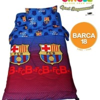 BEDCOVER SET CALIFORNIA BARCA 18 SINGLE 120 No.3 BCS BOLA FC BED COVER