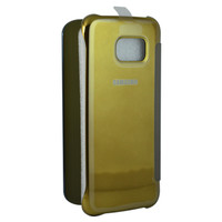 Super Promo! SAMSUNG CLEAR VIEW PELINDUNG HP S6 EDGE--GOLD. Murah!
