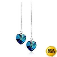 [SALE] Anting hati kristal Korean earring blue crystal jan073