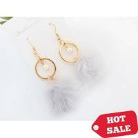 [SALE] anting panjang pom pom women earrings pearl jewelry jan080