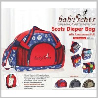 Tas Bayi Baby Scots - Diaper Bag With Alum. Foil Print Character