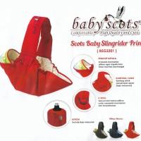 Gendongan Bayi Samping / Sling Baby Scots - Baby Slingrider Print