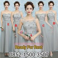 Sewa gaun pagar ayu grey surabaya bridesmaid