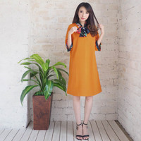 E1189 PATRICIA DRESS (Baju Jumbo Big Size XL Terusan Midi Bumil)