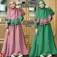 Baju Gamis Syari anak yosa kids/full balotely/hijab anak