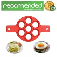 Cetakan Pancake Maker 7 Hole - Merah