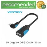 Vention Kabel OTG Micro USB to USB 2.0 L Shape - 10 CM - Hitam