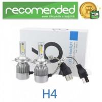 Lampu Mobil LED C6 H4 COB 2PCS - Putih