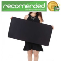 Gaming Mouse Pad Desk Mat Polos - Hitam - 300 x 600 mm