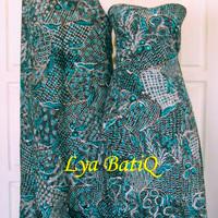 (Sepasang/2pc) Kain Batik Tulis Madura Sekarjagat Tosca LB 512-513