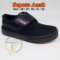 AFINA19 Sepatu anak sekolah merk vans warna hitam ukuran 28 29 30 31