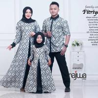 Couple sarimbit batik gamis dress baju Muslim murah family keluarga
