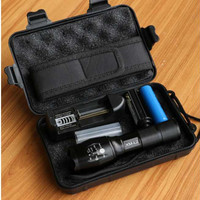 Paket Senter LED Tactical CREE XM-L2 8000 Lumen + Baterai 18650+Chrger