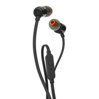 JBL T110 In Ear Headphones with microphone & flat cable - Black - Ori