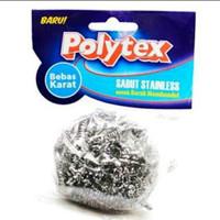 Polytex Sabut Stainless Bebas Karat untuk Kerak Membandel