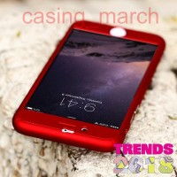Hardcase Iphone 6+ case 360 Warna MERAH Free Temperedglass case cover