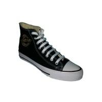 Sepatu sekolah Warior K-zoot Rossi hitam/putih
