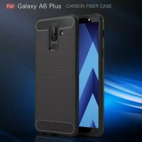 Samsung Galaxy A6 Plus 2018 Softcase Case Carbon Anti Shock Crack Drop