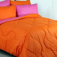 grosir sprei dan bedcover murah/polos orange,pink fanta/adem