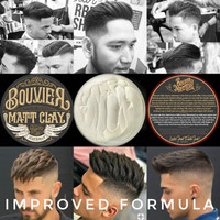 PROMO TOPED BOUVIER MATT CLAY-WAX WATERBASED POMADE BY JEKERMAN 100GR
