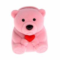 box kotak perhiasan cincin emas perak boneka beruang beludru bkn ruby