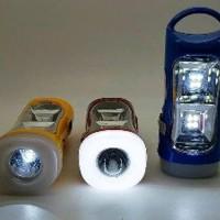 Lampu Senter LED Solar Dan Cas Listrik - Emergency Lamp JNUACX9