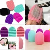 EGG Brush Alat pencuci pembersih set Kuas Make up brush Cleanser A2