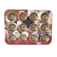 Jual HS Homeland Bakeware 12 Cup Mini Muffin Pan / Loyang - Gold Murah