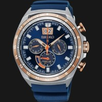 Seiko Prospex Sea SSC666P1 Chronograph Men Blue Dial Blue Rubber Strap