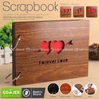 Album ScrapBook Love 30 Lembar Fujifilm Instax Mini Wide / 2R Polaroid