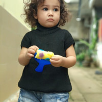 Dress Turtle Neck Rajut Baby Girl Blue Only
