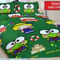 BED COVER SET KEROPPI AND FRIENDS BONITA DISPERSE 180X200 KING SIZE