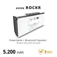 Powerbank + Bluetooth Speaker ASVEN ROCKR (plus built in suction pad)