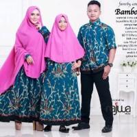 paket couple batik muslim gamis ayah ibu dan kakak pere PROMO